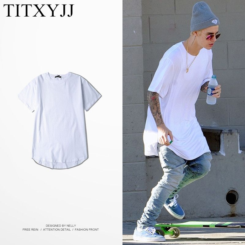 2017 New Fashion T Shirt Justin Bieber Tees Skateboard ...