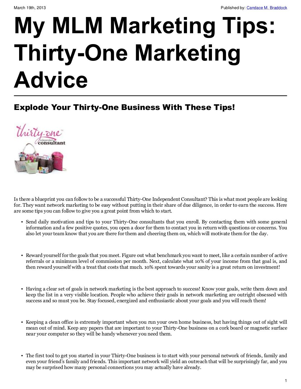 Explode your thirty one business with these tips thirtyone explode your thirty one business with these tips malvernweather Gallery