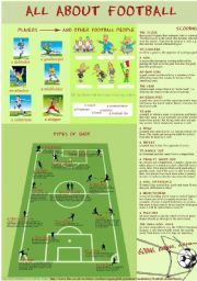 english worksheet all about football football vocabulary worksheets football worksheets. Black Bedroom Furniture Sets. Home Design Ideas