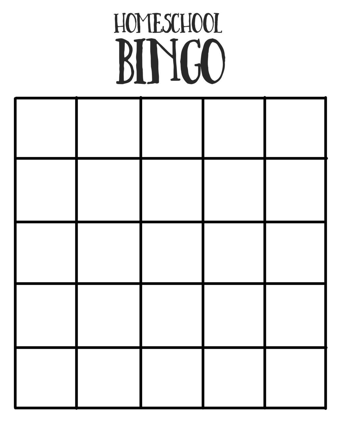 Homeschool Bingo Happy Loud Life In