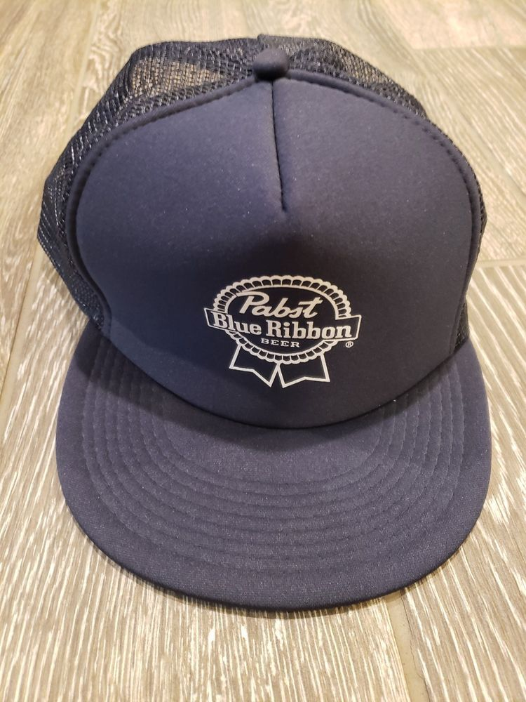0c1c5dbbe Navy Pabst blue ribbon trucker snap back hat #fashion #clothing ...