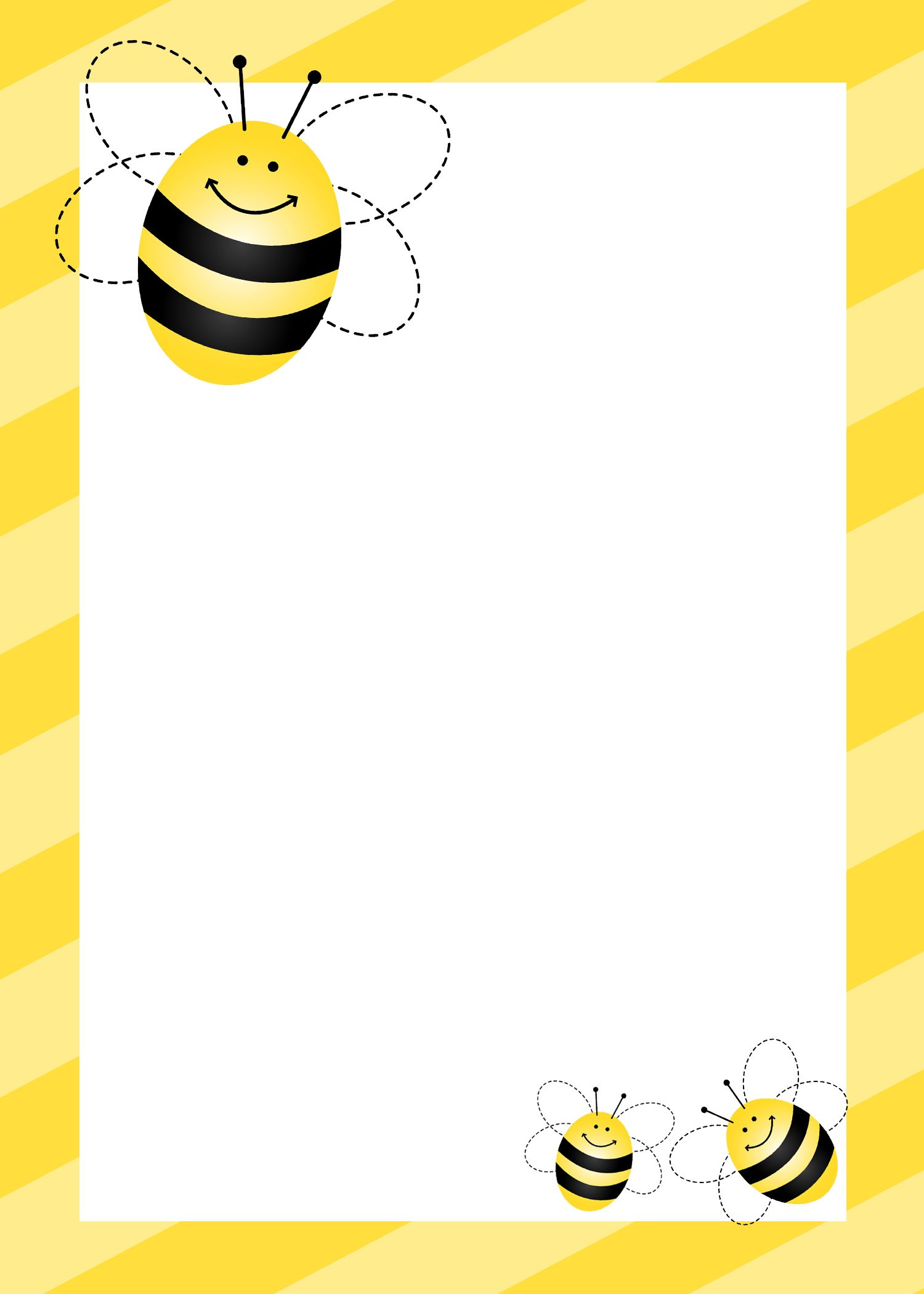 Bumblebee themed birthday party with free printables bumble bees bumblebee themed birthday party with free printables how to nest for less leaf template printableprintable borderstationary spiritdancerdesigns Gallery