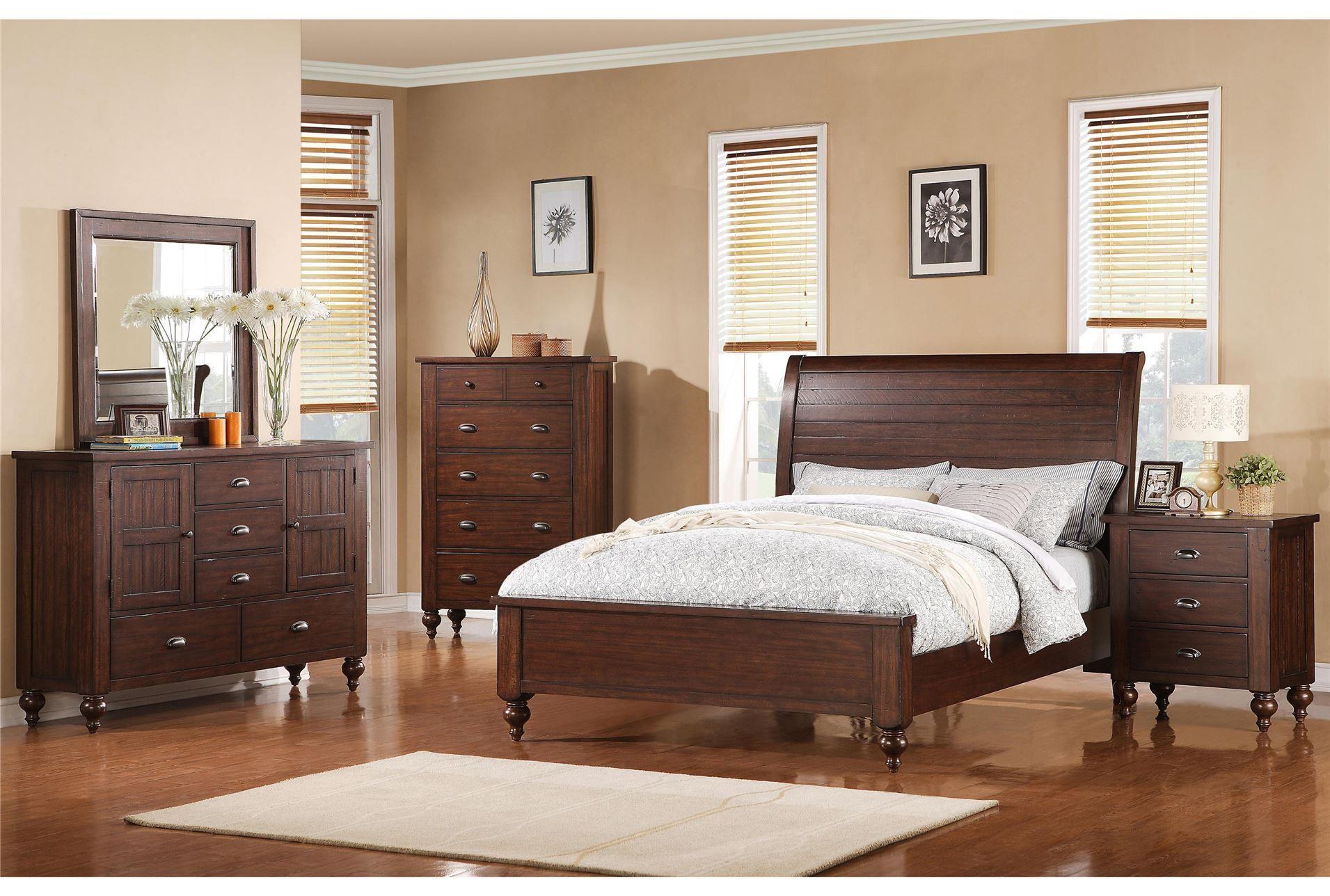 Cullen Eastern King Panel Bed Furniture, King storage
