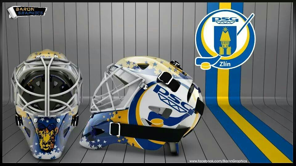 #hockey mask design #psg zlín #baron graphics