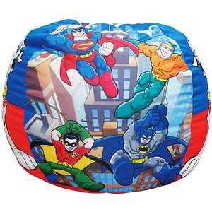 Cool Warner Bros Dc Super Friends Mini Heroes Kids Bean Bag Gmtry Best Dining Table And Chair Ideas Images Gmtryco