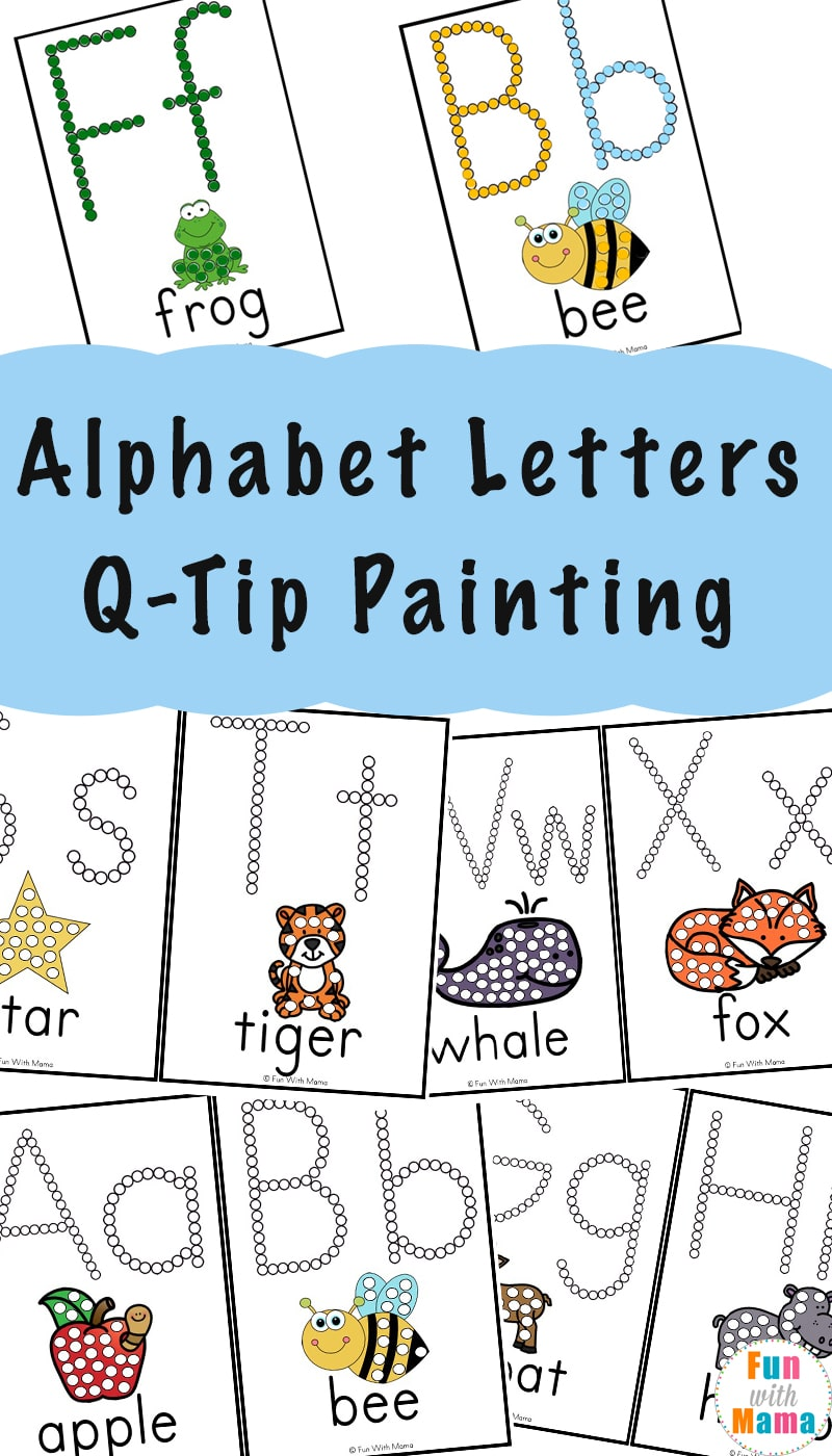 Alphabet Printables QTip Painting Q tip painting, Free