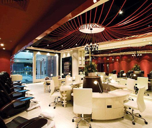 Salon design ideas nail salon interior design home for Interieur design salon
