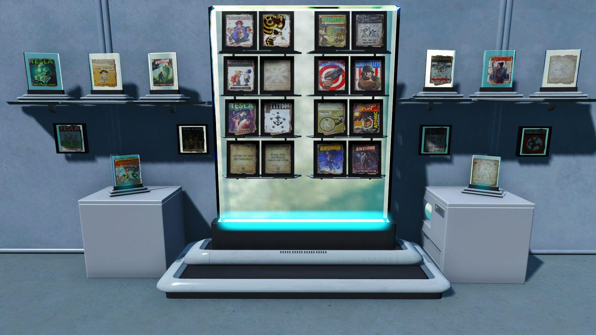 Modern magazine shelves at fallout 4 nexus mods and community