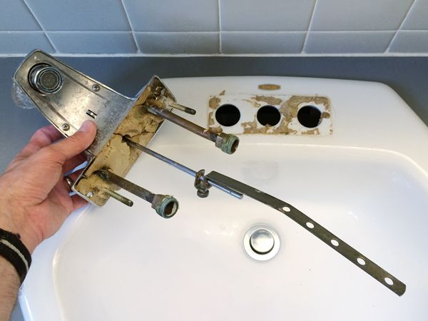 Replacing An Old Bathroom Faucet | Rather Square