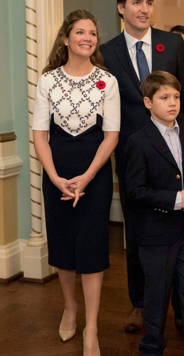 Erdem dress, worn for the swearing-in ceremony | Nov 4