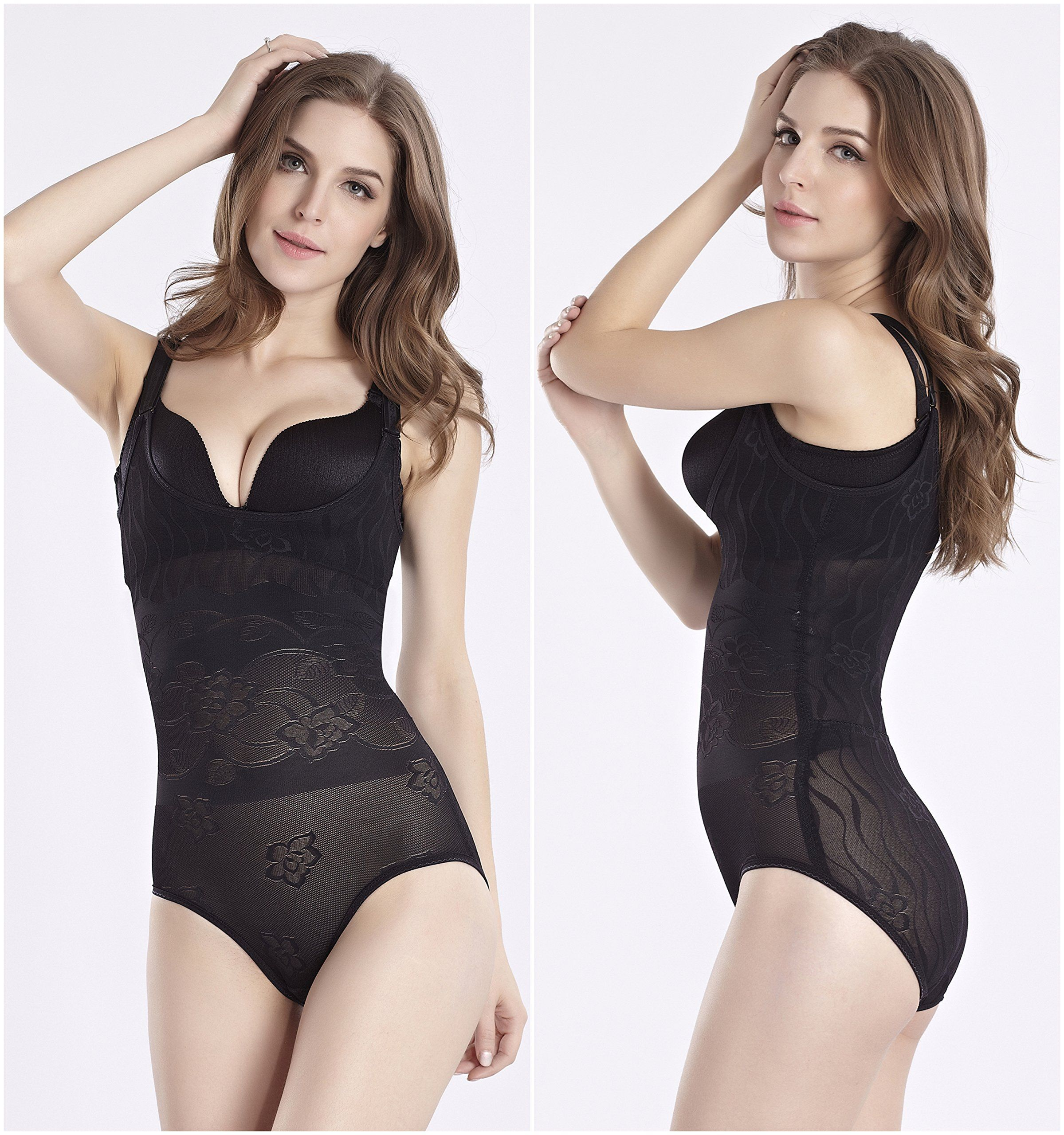1d5e97a7da Kffyeye Womens Thin Seamless Firm Control Shapewear Open Bust Bodysuit  BodyShaper S Black9020    Read more at the image link. (This is an  affiliate link)