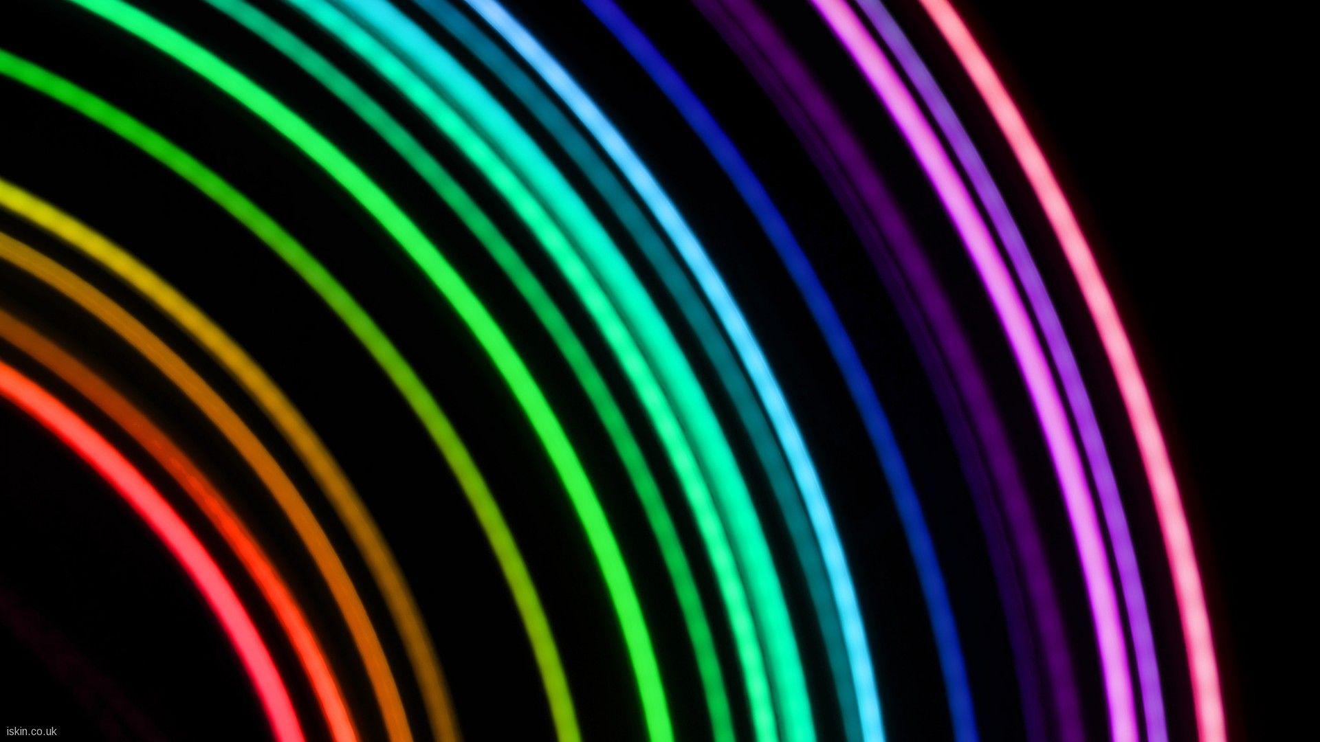 Neon Lights. Neon rainbow, Neon wallpaper, Rainbow wallpaper