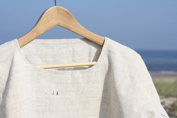 French pure hemp 100  chanvre nightgown shirt with por Passesimple, €69.00