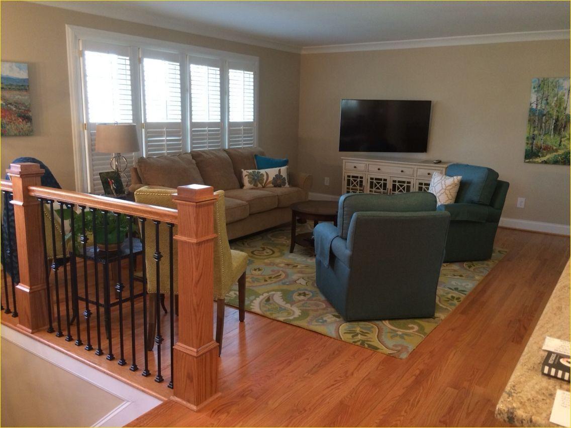 Split-level Living Room Fireplace in 2020 | Living room ...