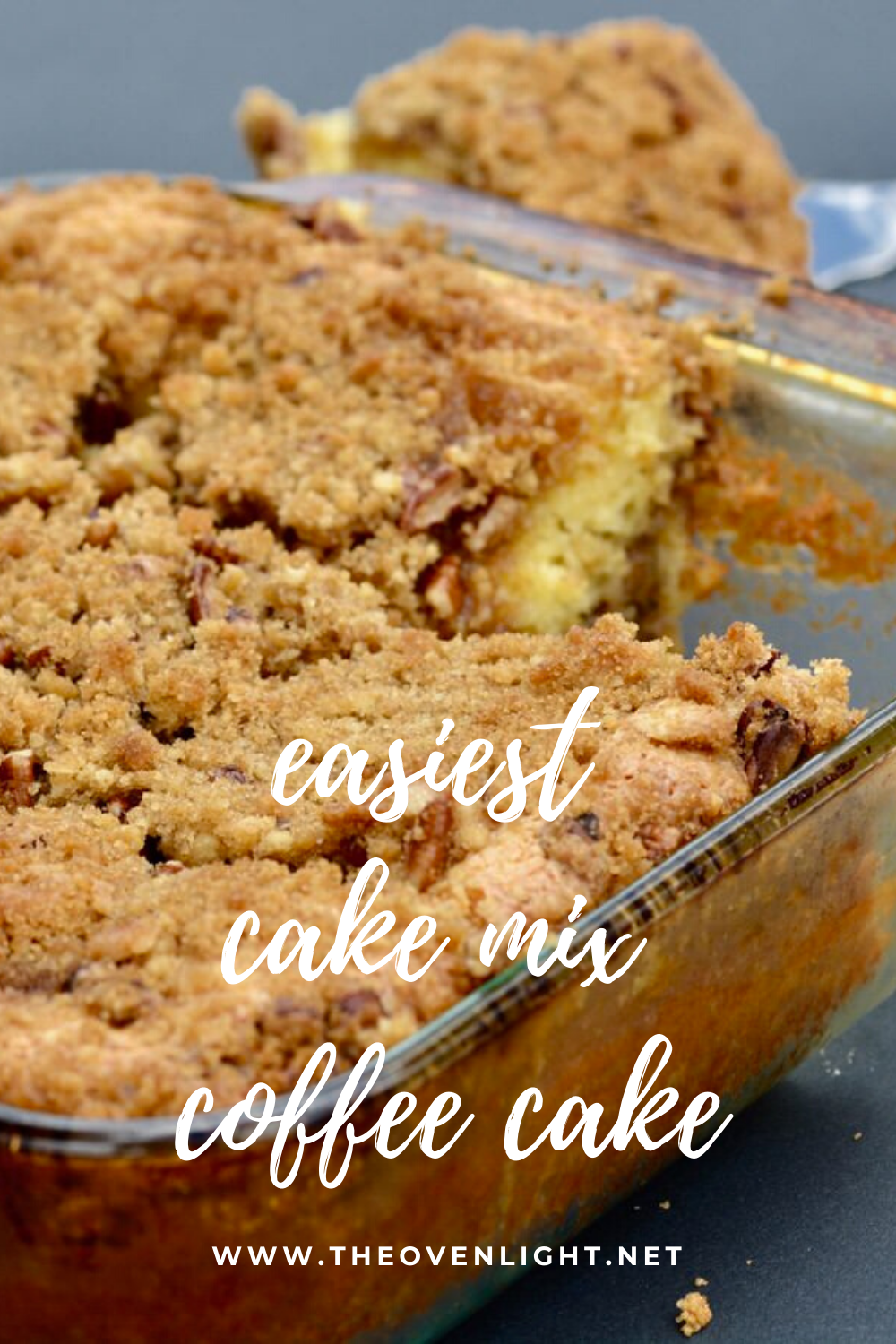 Yellow Cake Mix Coffee Cake The Oven Light Breakfast Recipe In 2020 Cake Mix Coffee Cake Coffee Cake Recipes Easy Cake Mix