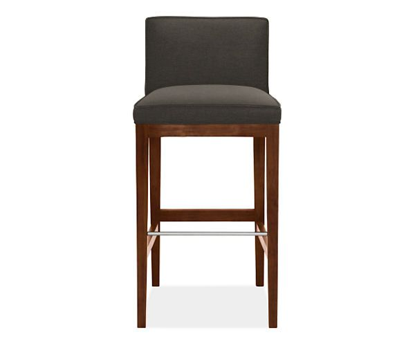 Room And Board Bar Stools: Ansel Low Back Bar Stool With Walnut Legs
