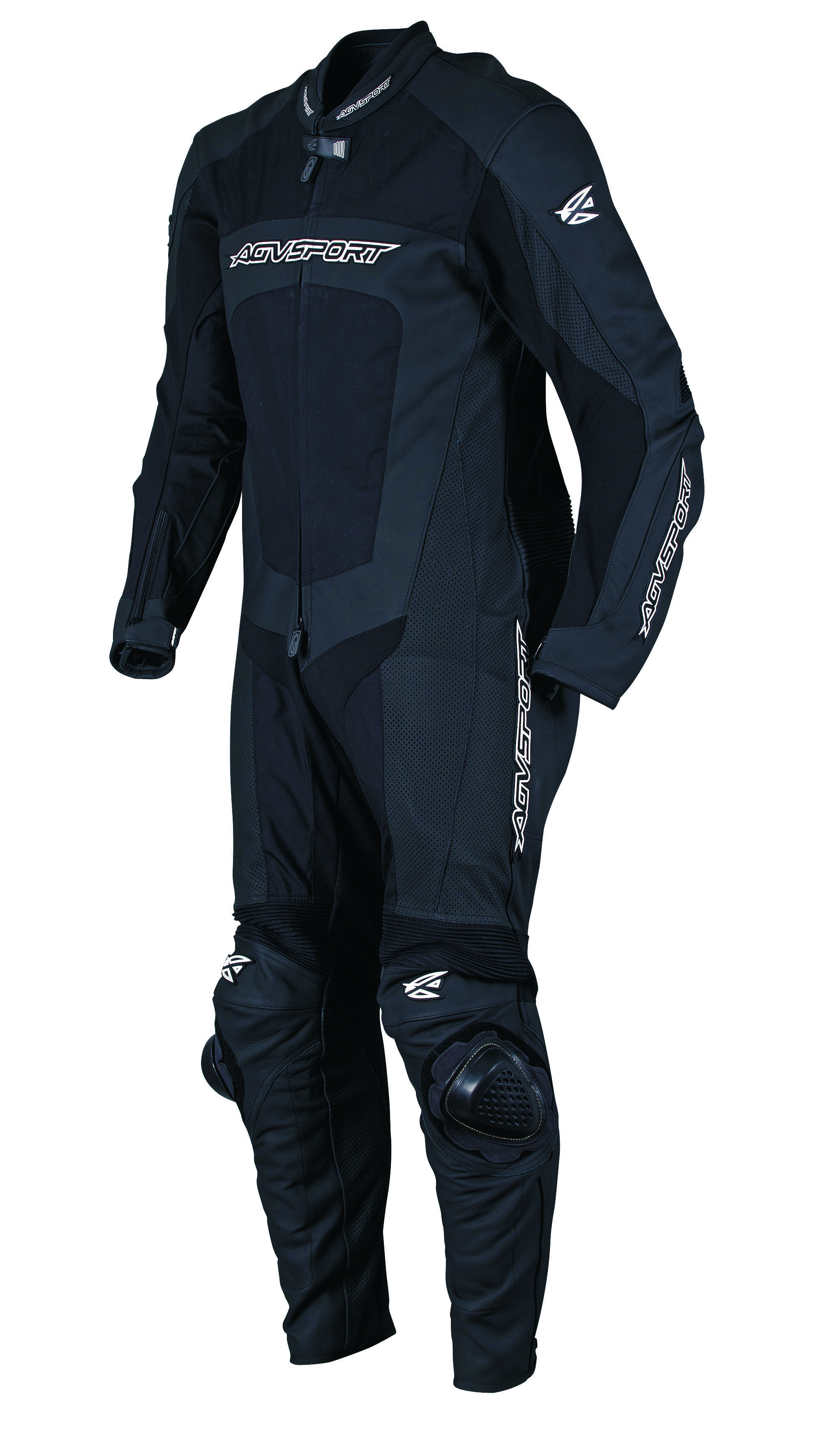 AGVSPORT Strike (Black) 1-Piece Leather/Textile Racing Suit Constructed from Grade A premium 1.1mm(body) too 1.3mm(impact areas) full grain cowhide in high abrasion areas. Tough Polytex 100% 500 Denier Polyester Fabricin the chest, inner thighs and lower back areas. ASSC and multi-tech, multi-four, and multi-triple stitching.CE approved protection (EN 1621- level 1). Click picture for more information!