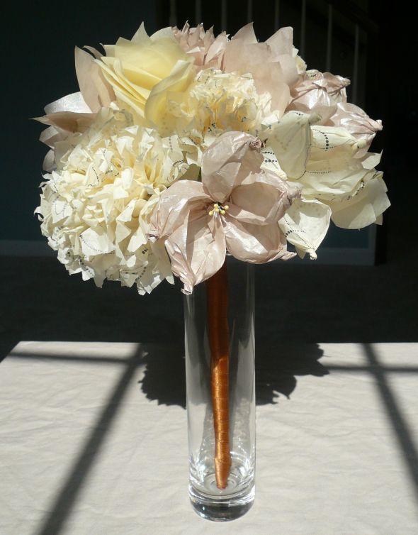 Tissue Paper Flower Bouquet : wedding tissue paper bouquet diy ivory ...