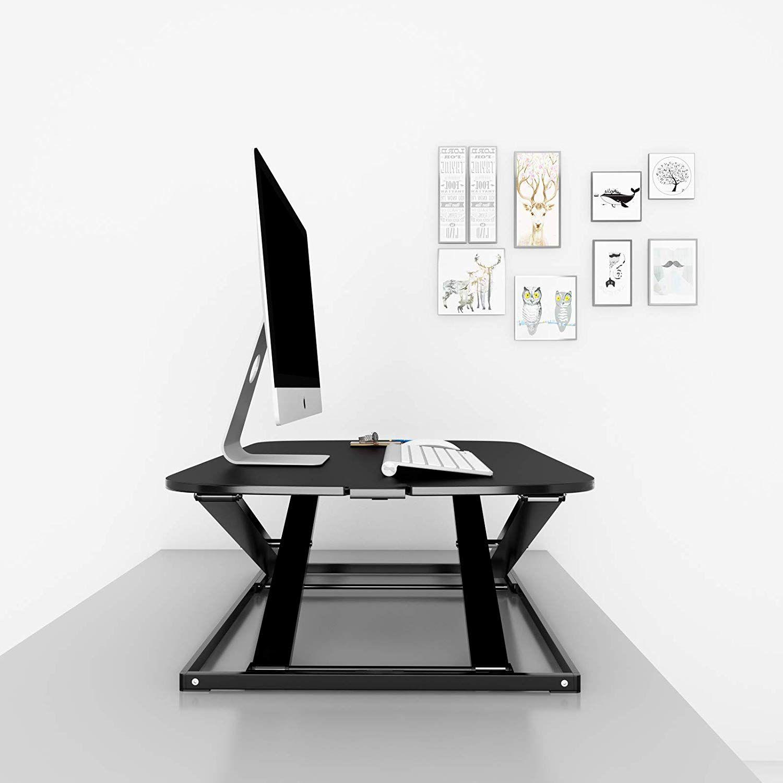 1home Siege Ergonomique Ajustable En Hauteur Moniteur De Bureau Support De Travail Pour Ordinateur De Bureau Moniteur Clavier Drafting Desk Desk Standing Desk
