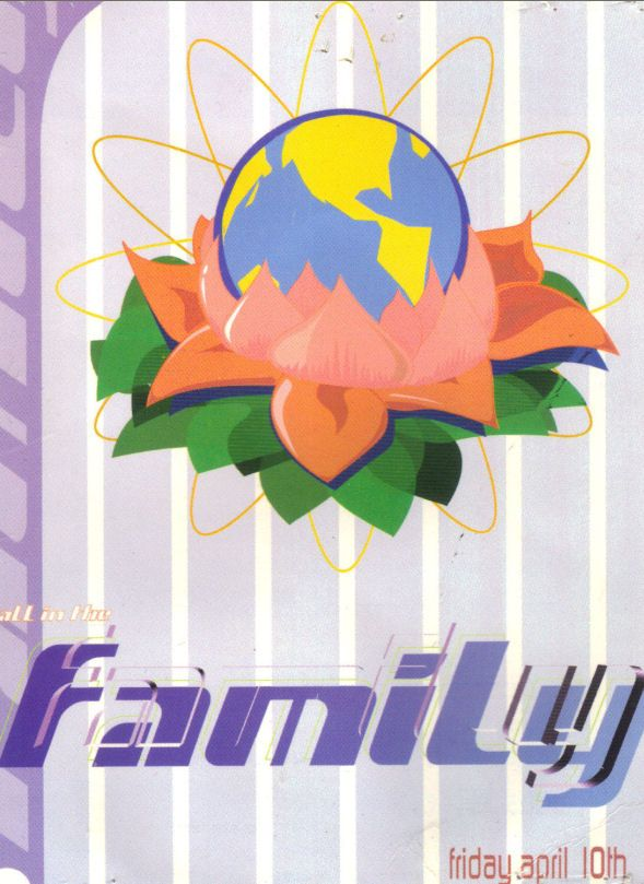All In The Family Rave Flyer