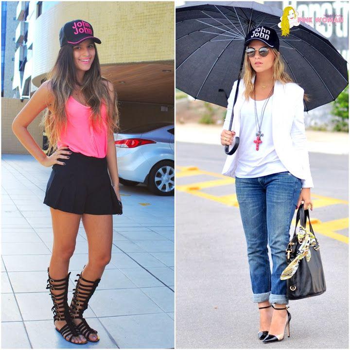 looks feminino com boné - Pesquisa Google  446193fe04b