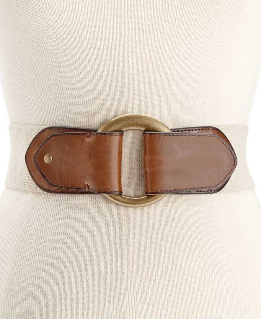 Style & Co. Harness Pull-Back Stretch Belt, Only at Macy's