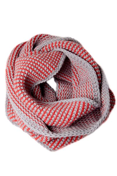 Two Color Striped Infinity Scarf Knit Pattern I Wonder If I Have