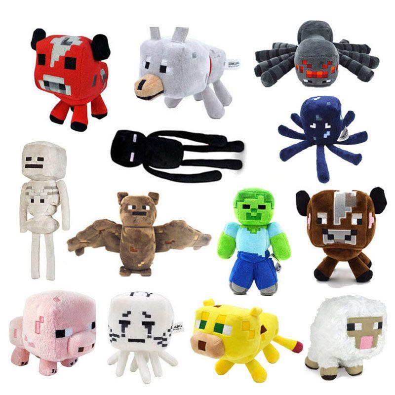 Soft Stuffed per Minecraft bambini Styles Animal 13 Gioco Peluche Doll 3Rqj5Ac4L