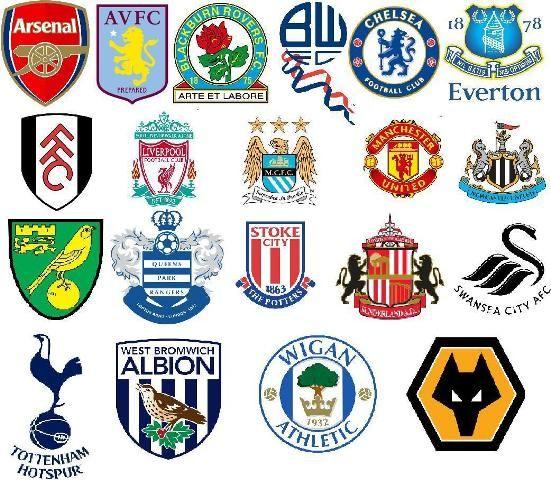 English Premier League Team Badges 2011 2012 Season Premier
