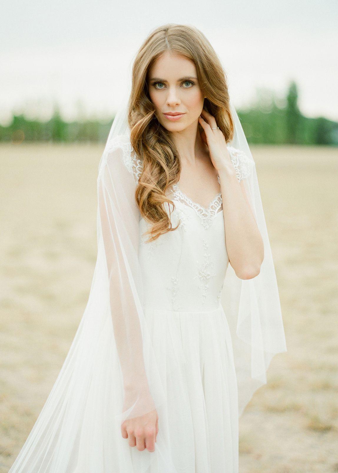 DAHLIA Chapel Length Bridal Veil Wedding dresses for