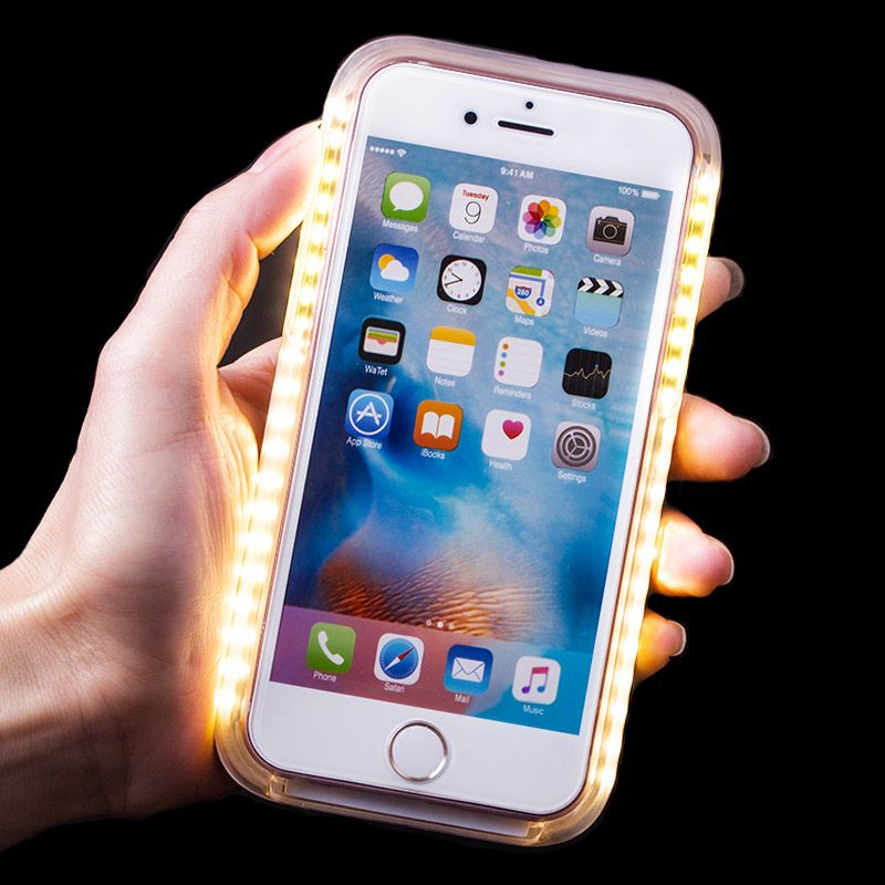 fashion selfie led light up glowing phone case cover for iphone 6