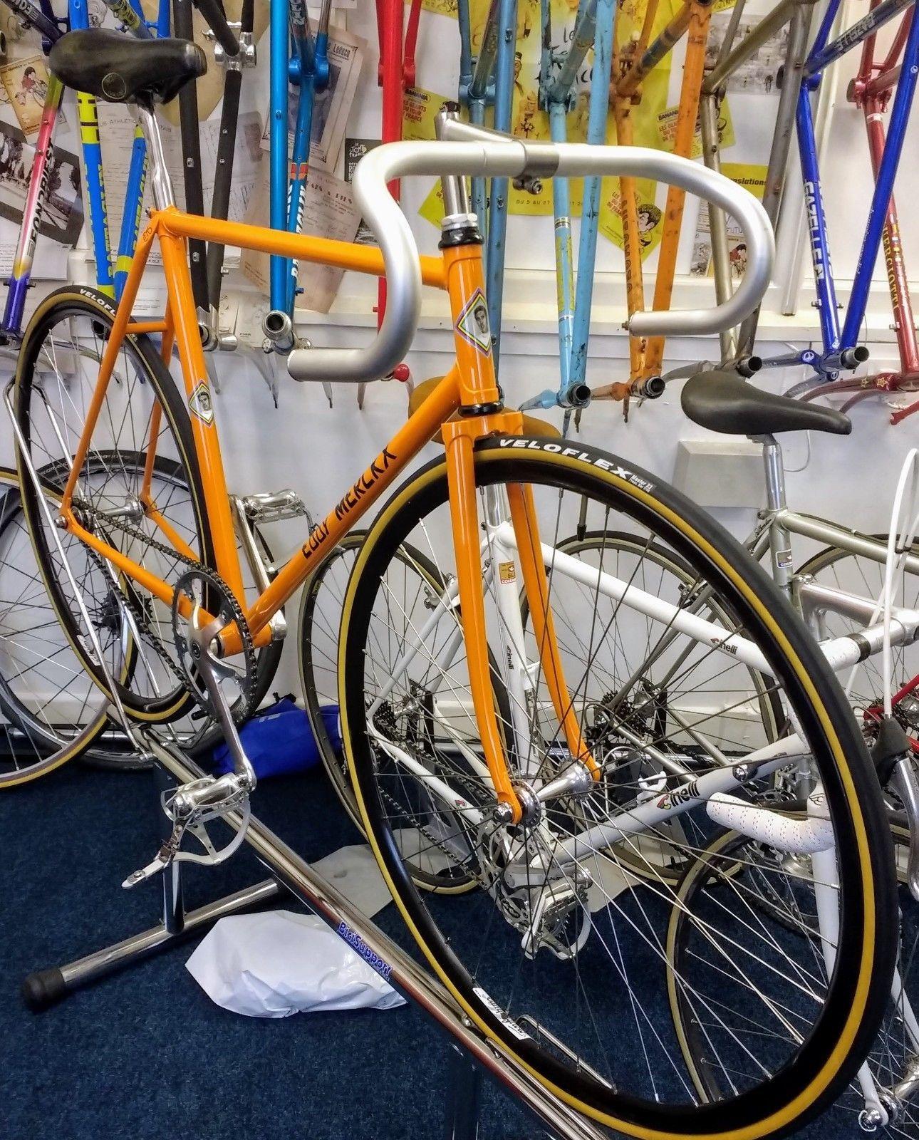 EDDY MERCKX HEAD BADGE head tube bicycle decal sticker silk screen free shipping