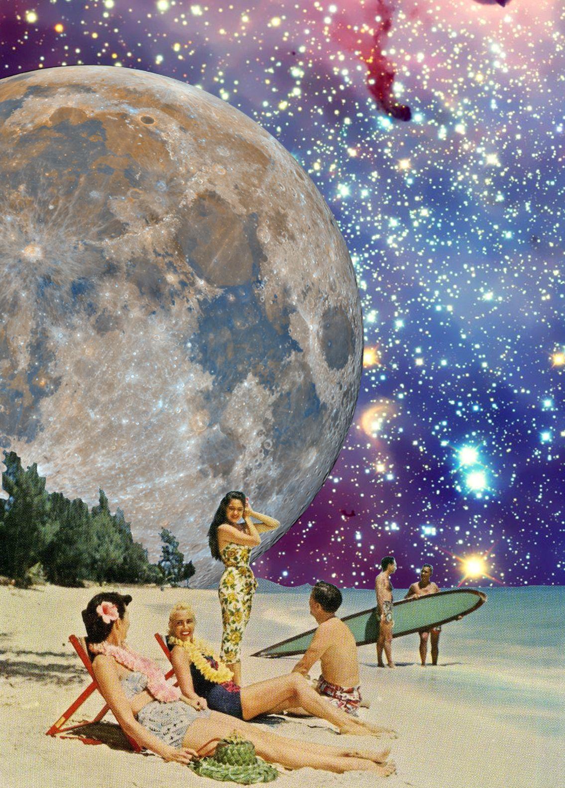 What an idyllic world! Digital retro collage, Annette von ...