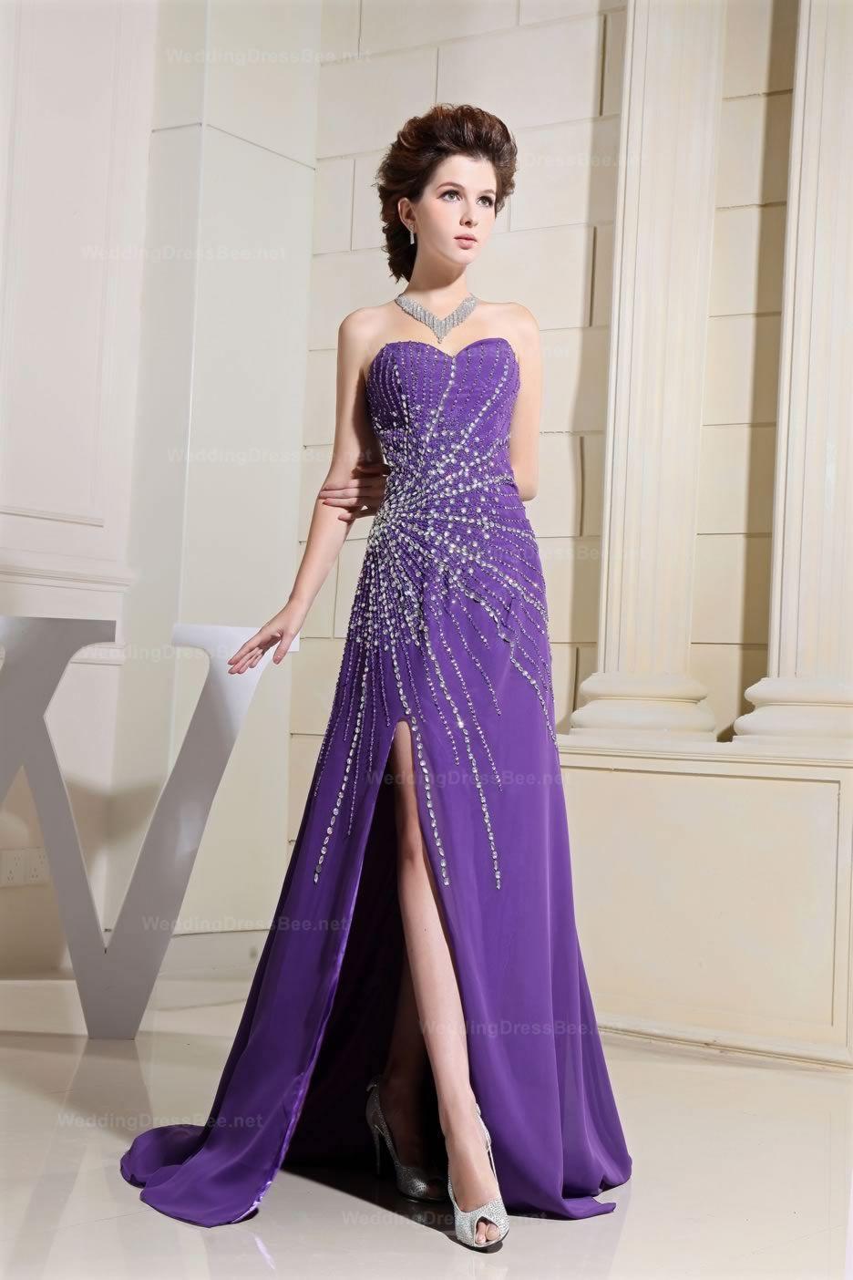 Style No.0sp00607,Sexy Thigh-High Split Chiffon Dress,US$238.98 ...