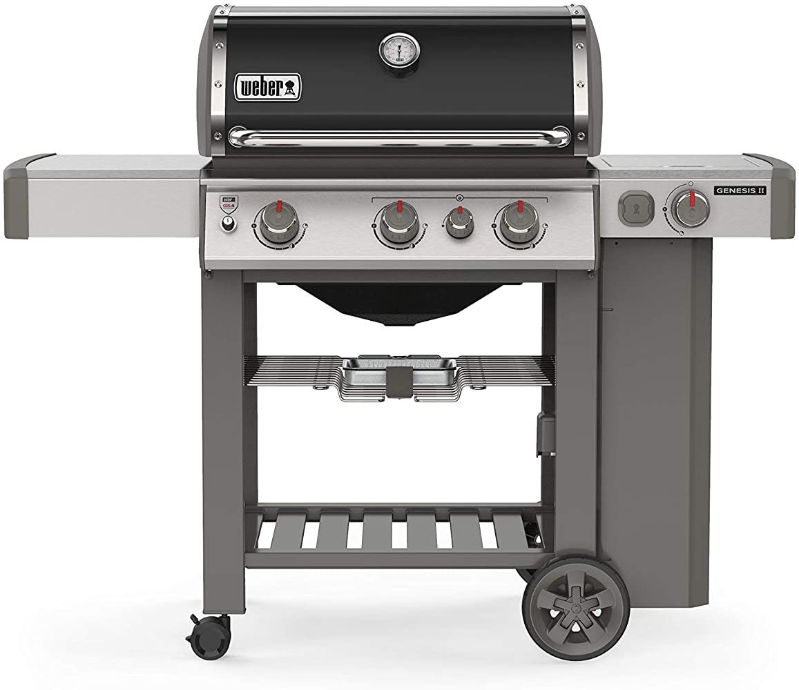 Weber 61012001 Genesis Ii E 330 3 Burner Liquid Propane Grill Black Outdoorcookingfireplace Outdoorcoo In 2020 Gas Grill Natural Gas Grill Stainless Steel Side Table