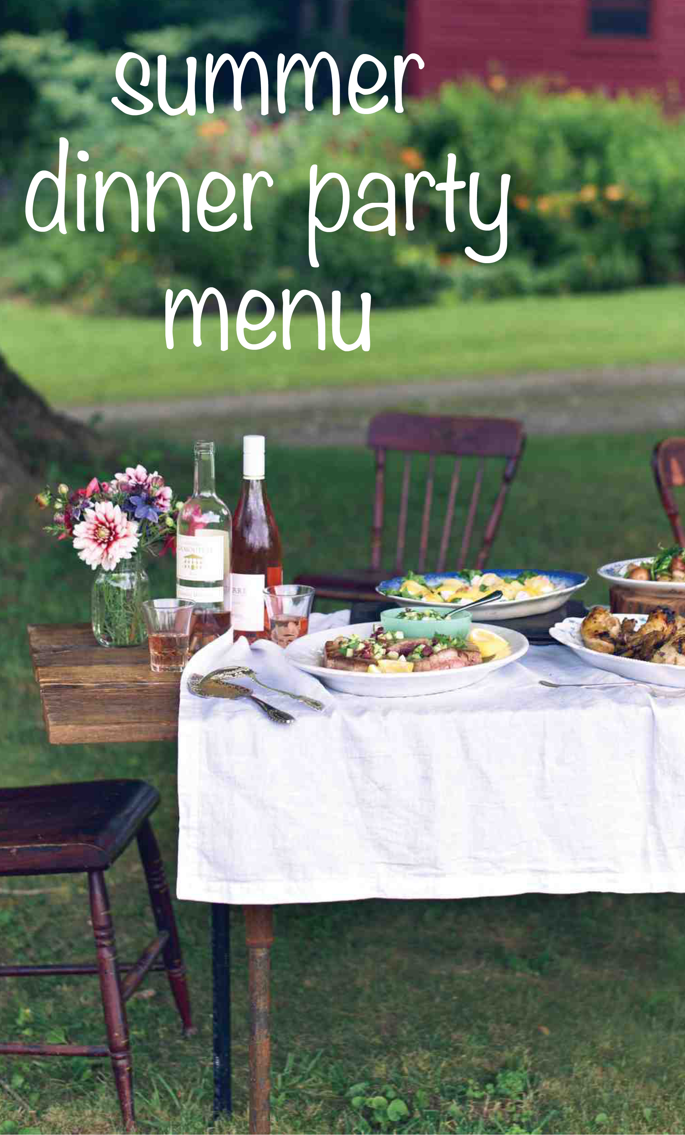 Chef Erin French S Farm To Table Dinner Party Menu Dinner Party