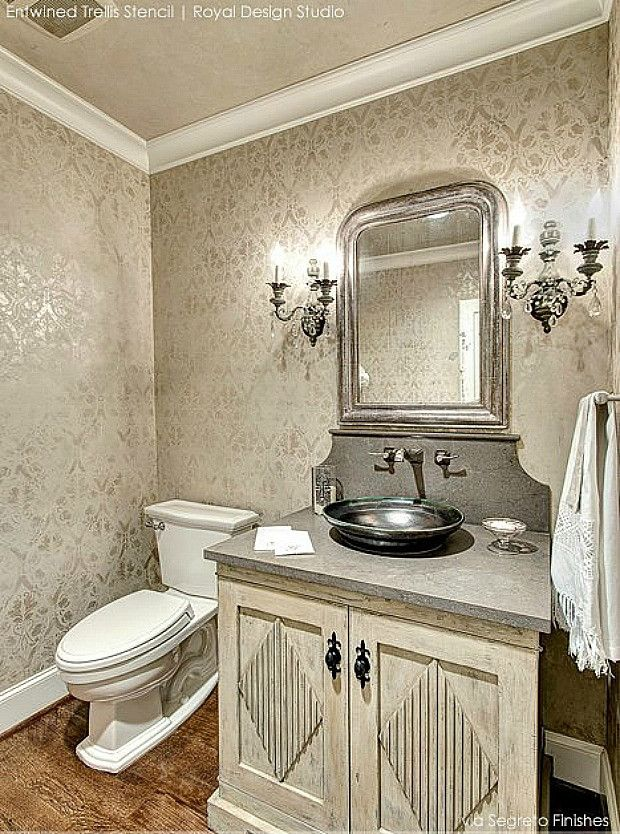 Wall Stencils The Secret to Remodeling Your Bathroom on a Budget