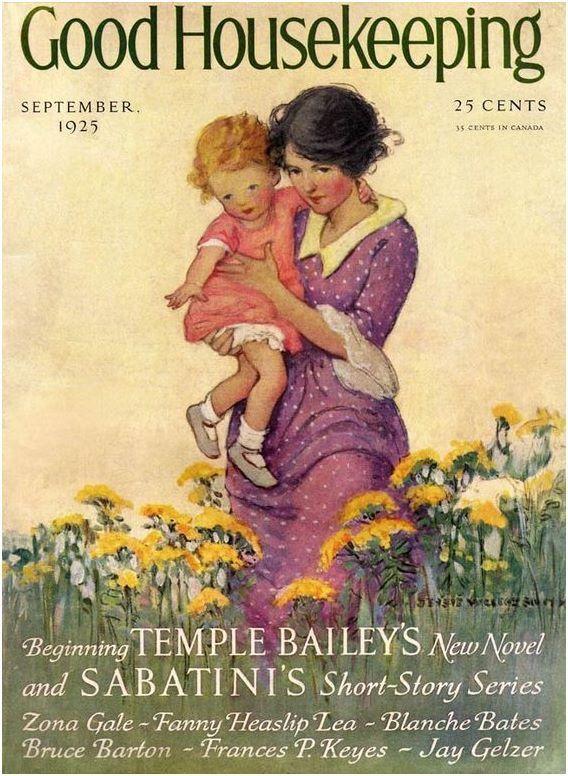 Vintage Good Housekeeping Magazine Covers Good Housekeeping Magazine September 1925 Jessie Wilcox Smith