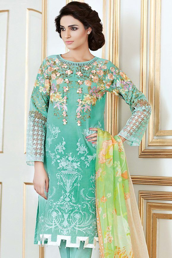 b16a65d9fc Gul Ahmed Festive Eid Collection 2017-18 Lawn, Silk & Chiffon Dresses