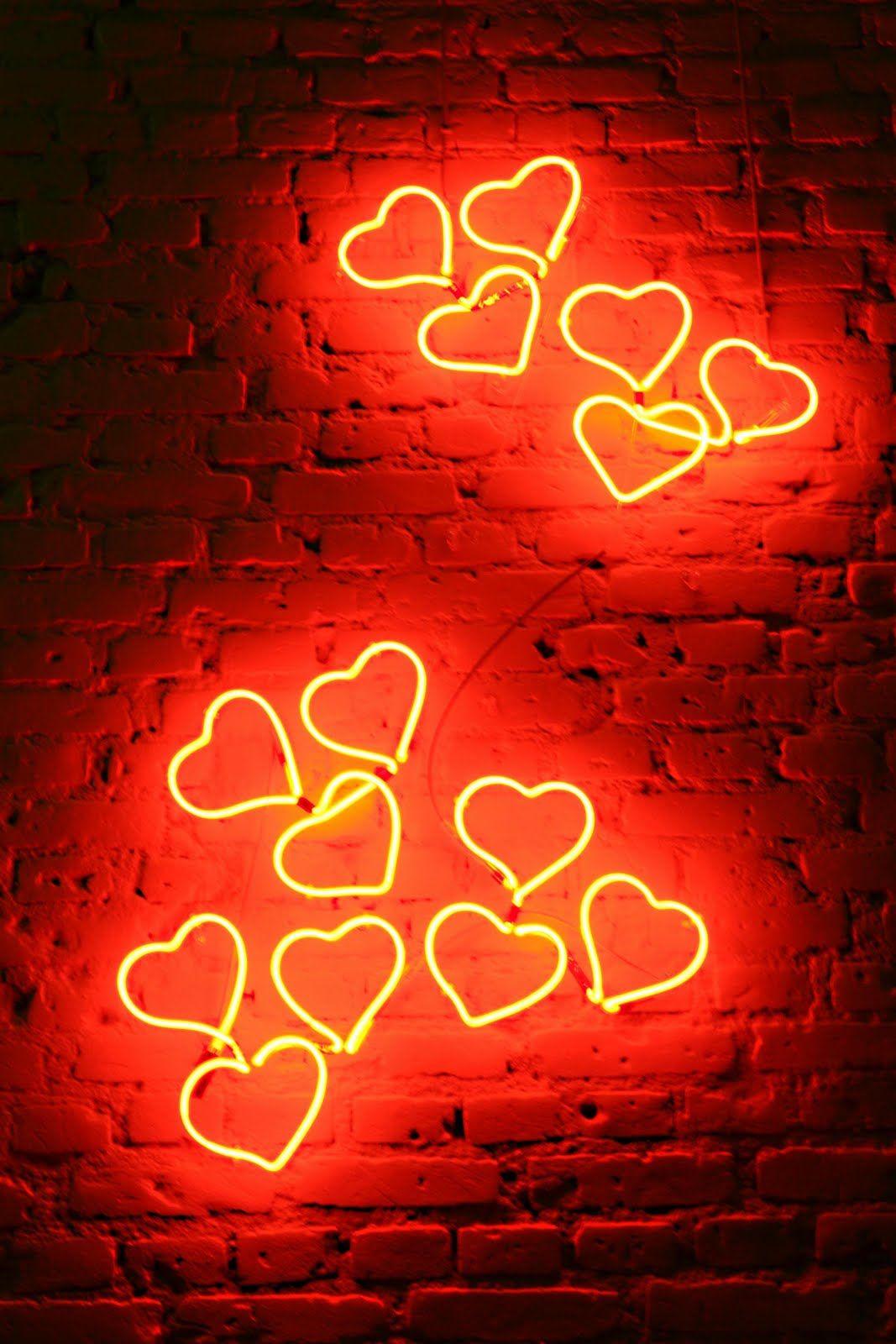 Neon Hearts Neon Decor Neon Words Neon Neon Signs