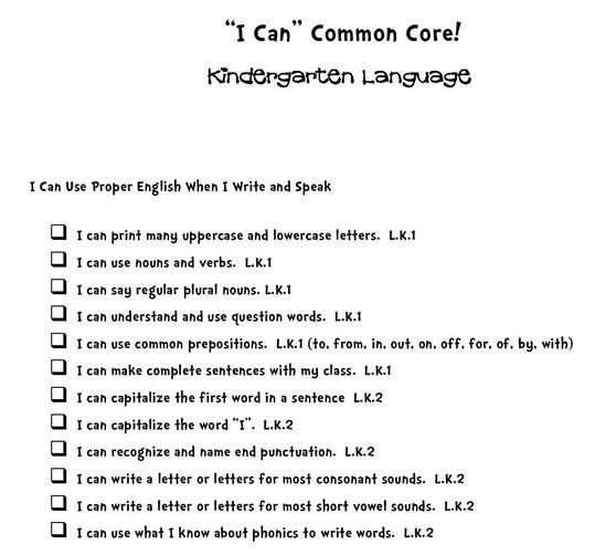 I Can Common Core Statements  Ccss    Common Cores