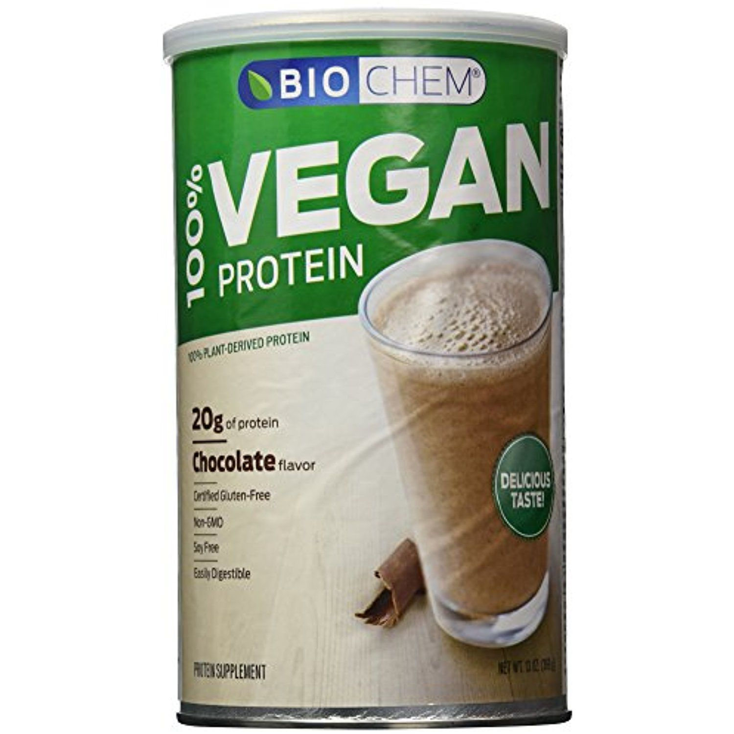 Biochem 100 Vegan Protein Powder, Chocolate, 13Ounce