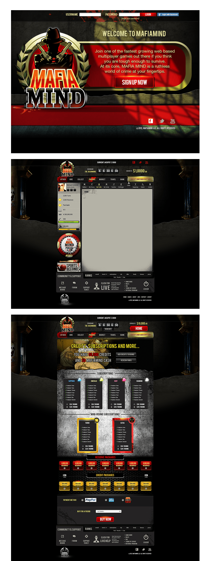 www.lanotdesign.com #Mafia_Mind #website #design #mafia #mob #online_game #gang #lanotdesign #manila #philippines