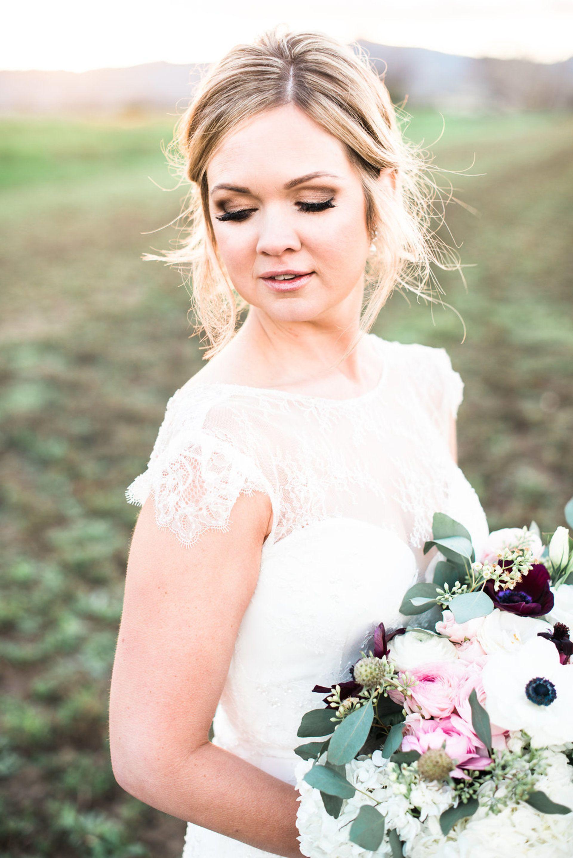 Natural Winter Wedding in Napa | Smoky eye, Copper eyeshadow and ...