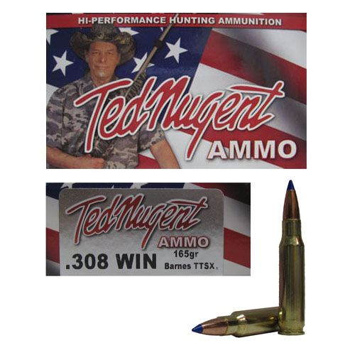 20rds - 308 Win  Ted Nugent 165gr  Tipped TTSX Boattail Ammo