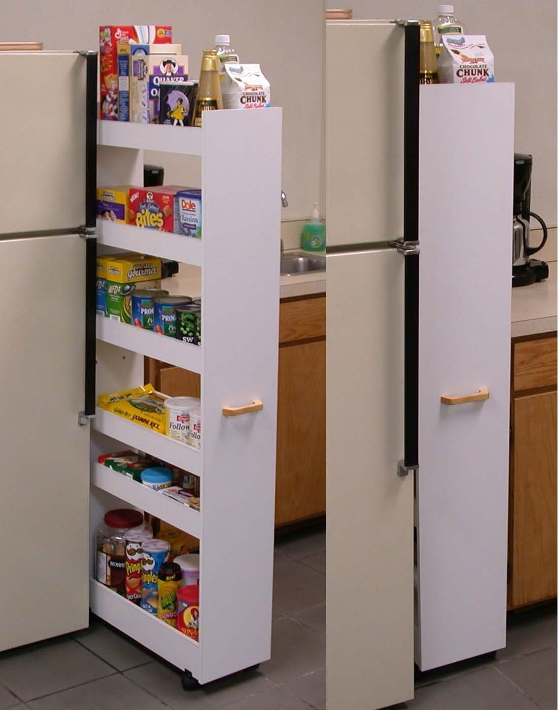 Amazon.com - Thin Pull-Out Pantry/Laundry Cabinet [Kitchen] # 4036 ...