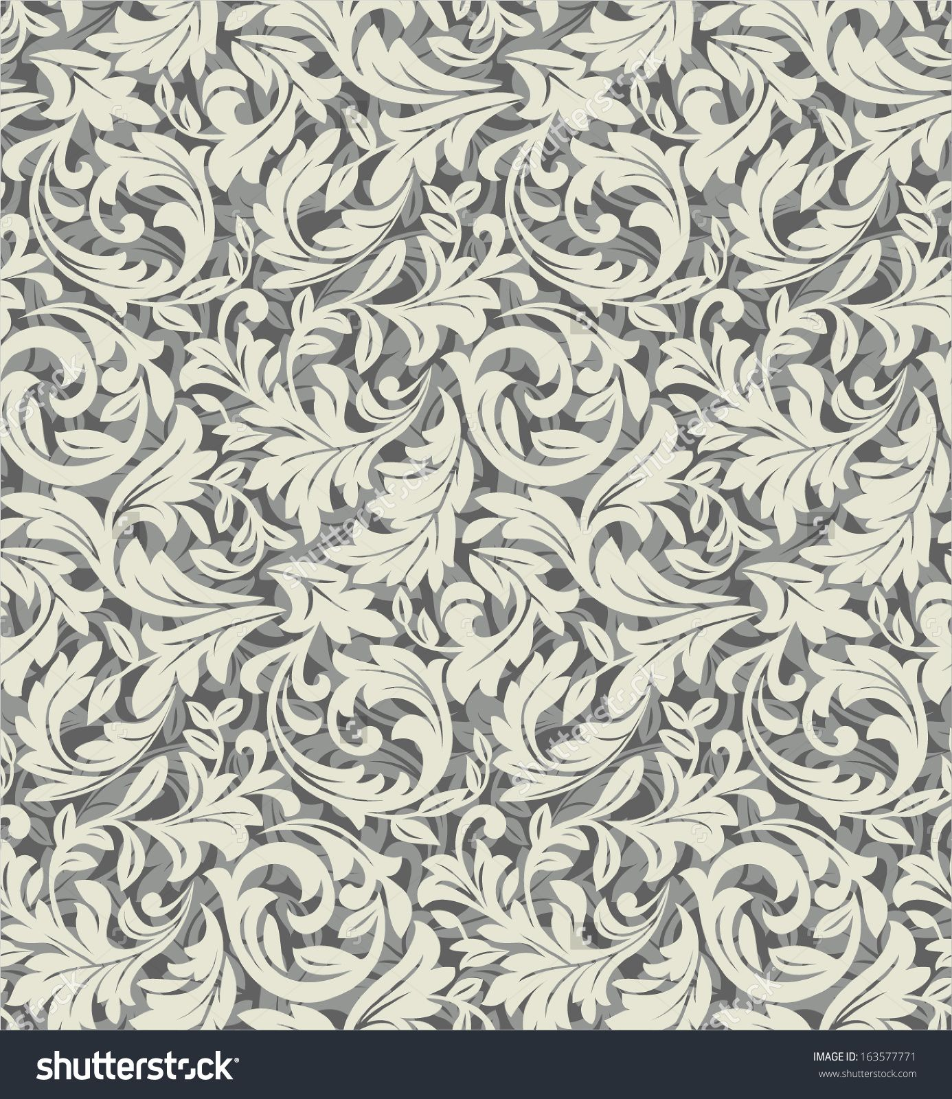 Wallpaper style baroque seamless vector backgroundbeige for Baroque style wallpaper