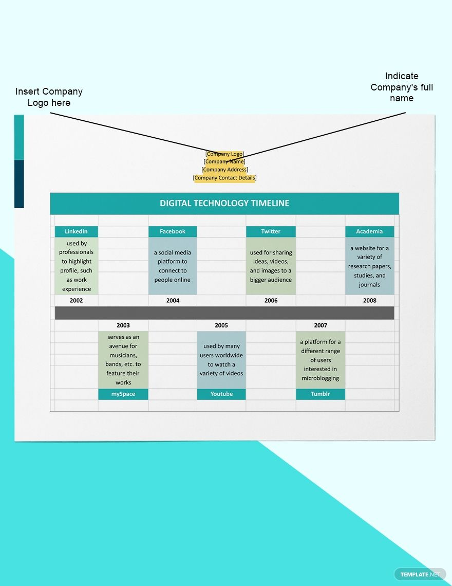 Digital Technology Timeline Template Free Google Docs Word Apple Pages Template Net Technology Timeline Timeline Template Digital Technology
