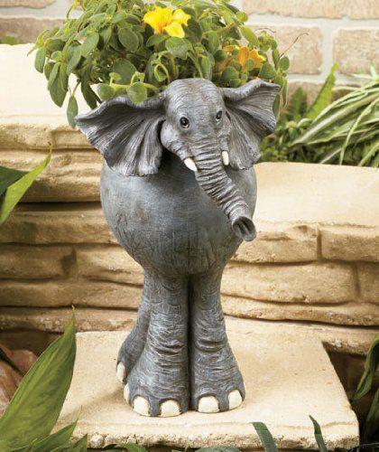 Elephants Vintage home decor Plants Urban Jungle Plant friends Vintage Elephant Planter Animal Planter White Ceramics