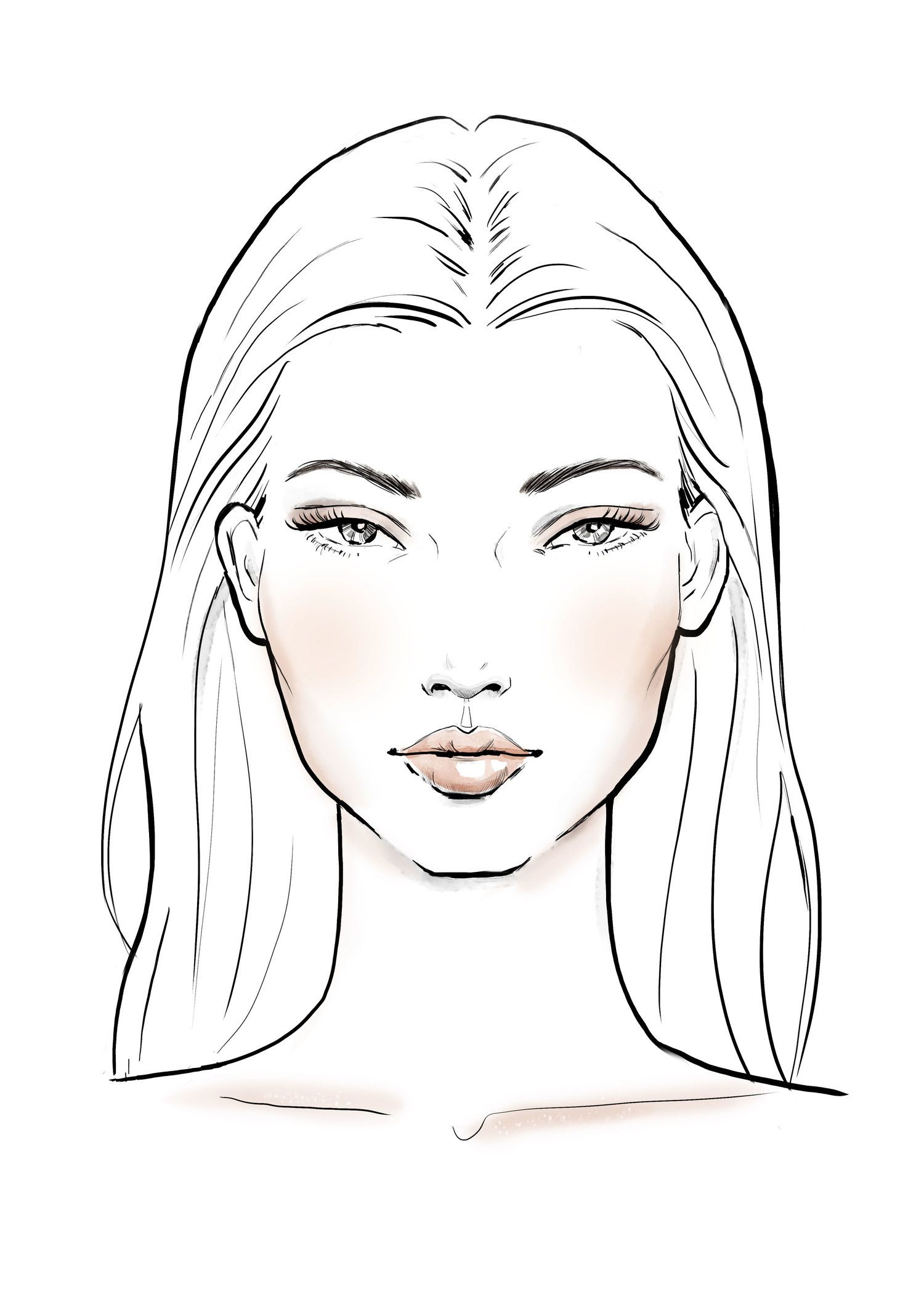 Sportsgirl — Tracy Turnbull -   8 makeup Face sketch ideas